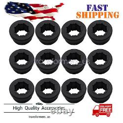 12PCS REPLACEMENT BLACK BUSHINGS For SKUNK2 REAR LOWER CONTROL ARM REAR CAMBER