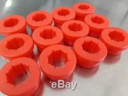 12 Pcs Replacement Red Bushings For Skunk 2 Lower Control Arm Rear Camber Kit