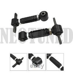 90-93 Integra Da Black Front Upper A Arm Rear Camber Kit Alignment Adjustable
