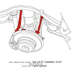 Adjustable Rear Alignment Camber+Toe Arm Kit Fit BMW X5(2007&Up) X6(2008&Up)