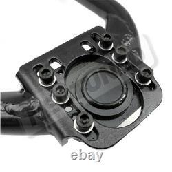 Black Adjustable Front+Rear Upper Camber + Traction Arm Kit For Nissan 350Z Z33