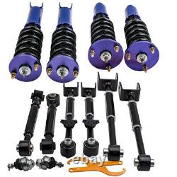 Coilover + Ball Joints + 6 Rear Camber Arms For Honda Accord 08-12 / Acura TSX