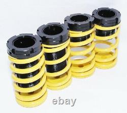 Coilover Lowering Coil Springs Set YELLOW FOR90-99 Mitsubishi Eclipse 90-98Talon
