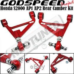 For 00-09 HONDA S2000 S2K AP1 AP2 Godspeed Adjustable Front+Rear Camber Arm Kit