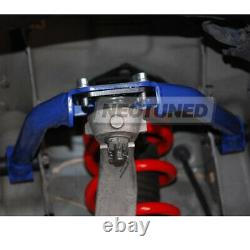 For 03-06 G35 Coupe Blue Adjustable Front+Rear Upper Camber+Toe Traction Arm Kit