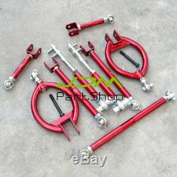 For 240SX S13 300ZX Z32 Rear Camber High Tension Traction Toe Suspension Kit Red