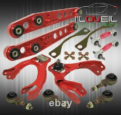 For 92-95 Civic Del Sol- Front & Rear Red Camber Kit Bushings Lower Control Red