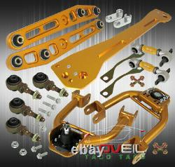 For 93-97 Del Sol Gold Adjustable Camber Kit Rear Subframe Bar Lower Control Arm