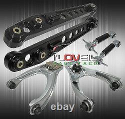 For 96-00 Civic Ek Em Front Rear Adjustable Upper Camber Kit + Lower Control Arm