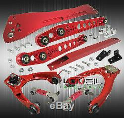 For 96-00 Civic Red Suspension Lower Control Arm + Subframe +Tie Bar +Camber Kit