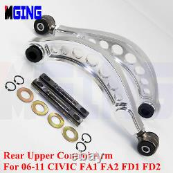 For Honda CIVIC Rear Upper Control Arm Camber Kit Fa1 Fa2 Fd1 Fd2 R18 06-11 Si