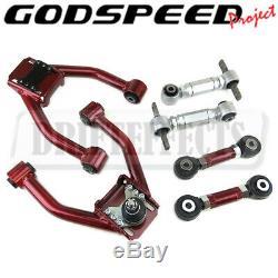 For Honda CR-V 97-01 Godspeed Adjustable Front+Rear Camber+ Toe Arm Kit Set GSP