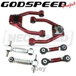 For Honda CR-V RD1-RD3 97-01 Godspeed Adjustable Front+Rear Camber+Toe Arm Kit
