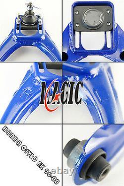 Front Upper Control Arms+Rear Camber Adjustable Kit For 96-00 Honda Civic EK BL