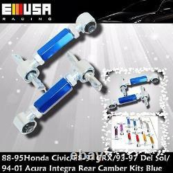 Full ADJ Damper Coilover Suspension +Camber Kits COMBO fits Honda Civic 96-00