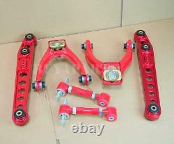 G2 Red Aluminum Lower Control Arm + Front Rear Camber Kit For 96-00 CIVIC EK