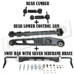 GSP Rear Sway Bar Subframe Brace+Lower Control Arm Kit+Camber For Civic 1996-00