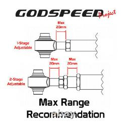 Godspeed Adjustable Camber Rear Upper Arms+Toe+Traction Rod Kit For Camaro 16-21