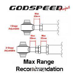 Godspeed Adjustable Rear Upper Camber+Toe+Trailing Arm Kit For WRX STI VA2 15-21