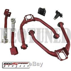 Godspeed For 03-08 350z Z33 03-06 G35 Front+rear Upper Camber Arm Alignment Set