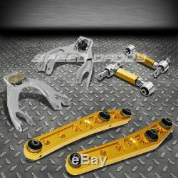 Gold Lower Control Arm+4pc Front+rear Camber Suspension Kit CIVIC Eg/ej/integra