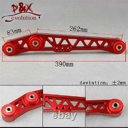 Lower Control Arm LCA+Front Upper+ Rear Camber Kit For Honda Civic EG EH Red
