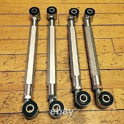 Mercedes Rear Adjustable Camber Toe Arm Set W208 W209 CLK55 CLK320 CLK430 Black