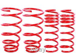 RED Lowering Springs Fit 02-06 Mini Cooper Base S Convertible