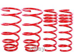 RED Lowering Springs Fit BMW 00-05 E46 3-Series 330i 325i 330Ci 325Ci 2Dr/4Dr