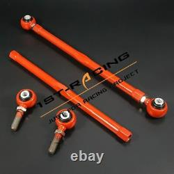 Red Adjustable Rear Lower Control Arms Kit For Mini Cooper R50 R52 R53 R55 R56