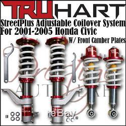 TRUHART STREET PLUS COILOVERS Lowering Kit SET For HONDA CIVIC 01-05 EM2 EP3
