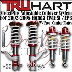 TRUHART STREET PLUS COILOVERS Lowering Kit SET For HONDA CIVIC SI 02-05 EM2 EP3