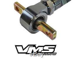VMS REAR BILLET Adjustable CAMBER ARMS 88-00 CIVIC CRX 90-01 INTEGRA GUN METAL