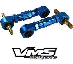 VMS REAR BILLET Adjustable CAMBER ARMS KIT 88-00 CIVIC CRX / 90-01 INTEGRA BLUE